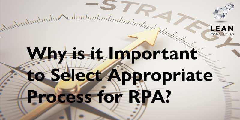 Select Appropriate Process for RPA